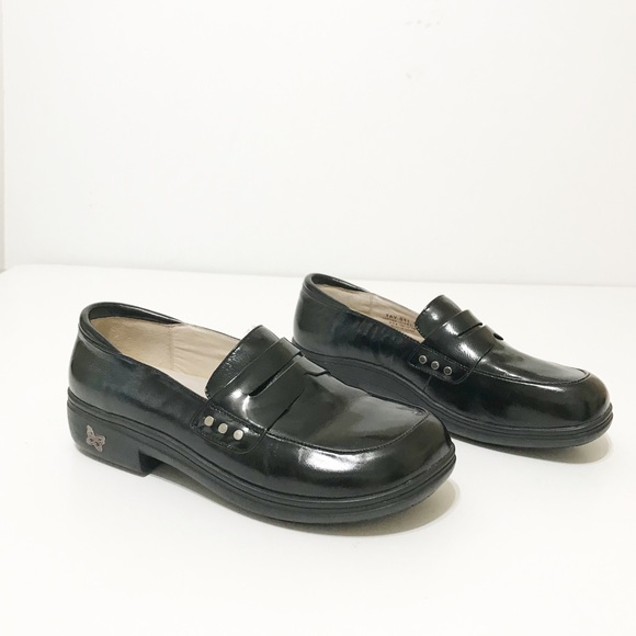 c93e78c46ce Alegria Shoes - Alegria Taylor Black Waxy Loafer Size 40